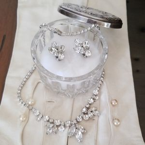 Weiss - Vintage Formal Necklace & Earrings Set